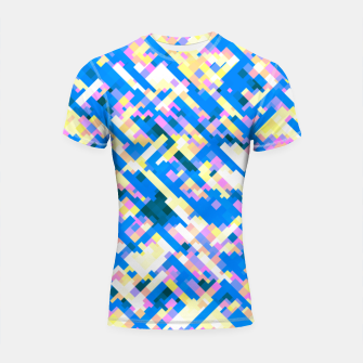 Thumbnail image of Sapphire labyrinth, small colored tiles arranged in mosaic Shortsleeve rashguard, Live Heroes