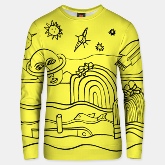 Thumbnail image of The Universe as seen from Earth - on Yellow Unisex sweater, Live Heroes