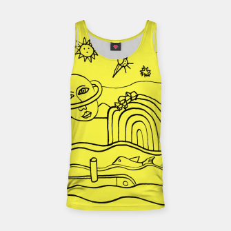 Thumbnail image of The Universe as seen from Earth - on Yellow Tank Top, Live Heroes