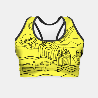 Thumbnail image of The Universe as seen from Earth - on Yellow Crop Top, Live Heroes