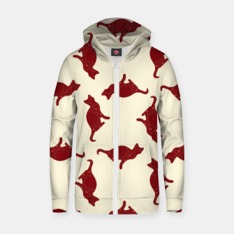 Thumbnail image of Cats pattern Zip up hoodie, Live Heroes