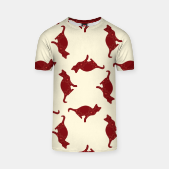 Thumbnail image of Cats pattern T-shirt, Live Heroes