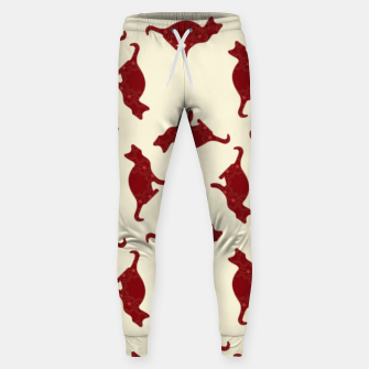 Thumbnail image of Cats pattern Sweatpants, Live Heroes