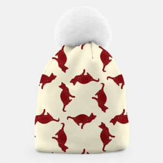 Thumbnail image of Cats pattern Beanie, Live Heroes
