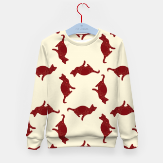 Thumbnail image of Cats pattern Kid's sweater, Live Heroes