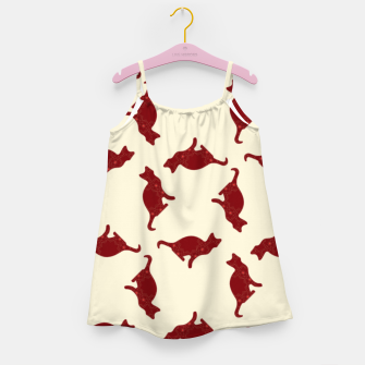 Thumbnail image of Cats pattern Girl's dress, Live Heroes