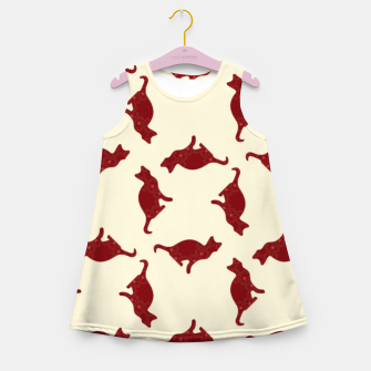 Thumbnail image of Cats pattern Girl's summer dress, Live Heroes