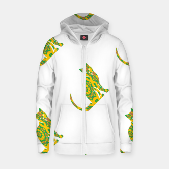 Thumbnail image of Decorative cats Zip up hoodie, Live Heroes