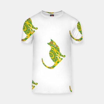Thumbnail image of Decorative cats T-shirt, Live Heroes