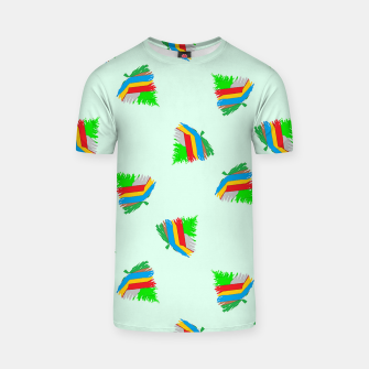 Thumbnail image of Colorful trees pattern T-shirt, Live Heroes