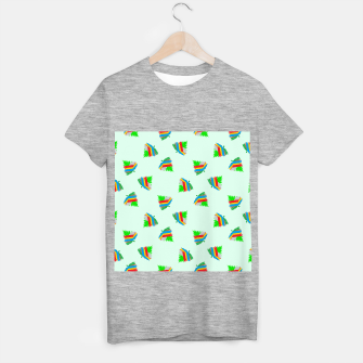 Thumbnail image of Colorful trees pattern T-shirt regular, Live Heroes