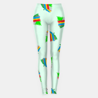 Thumbnail image of Colorful trees pattern Leggings, Live Heroes
