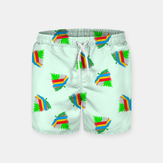 Thumbnail image of Colorful trees pattern Swim Shorts, Live Heroes
