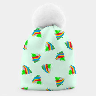Thumbnail image of Colorful trees pattern Beanie, Live Heroes