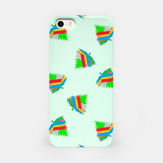 Thumbnail image of Colorful trees pattern iPhone Case, Live Heroes