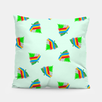 Thumbnail image of Colorful trees pattern Pillow, Live Heroes