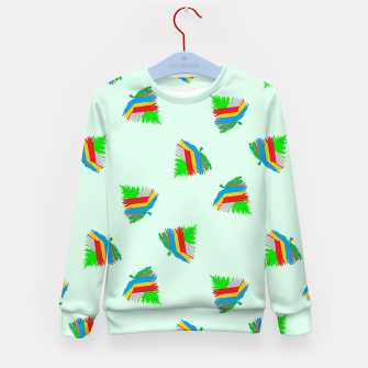 Thumbnail image of Colorful trees pattern Kid's sweater, Live Heroes