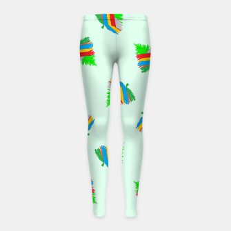 Thumbnail image of Colorful trees pattern Girl's leggings, Live Heroes