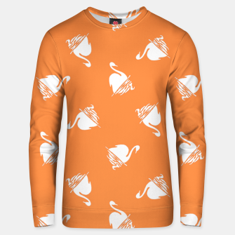 Thumbnail image of White swan pattern Unisex sweater, Live Heroes