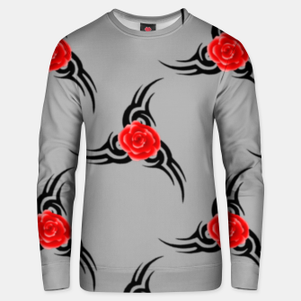 Thumbnail image of Red roses pattern Unisex sweater, Live Heroes