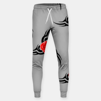 Thumbnail image of Red roses pattern Sweatpants, Live Heroes