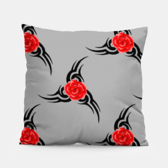 Thumbnail image of Red roses pattern Pillow, Live Heroes