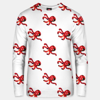 Thumbnail image of Red abstract octopus Unisex sweater, Live Heroes