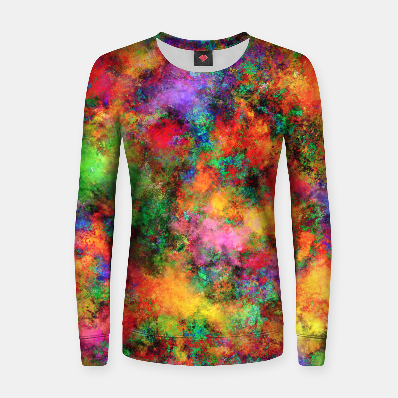Image of Big rainbow clouds Women sweater - Live Heroes