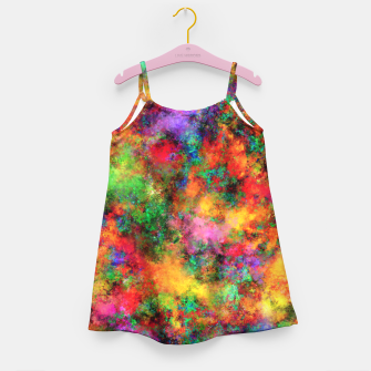 Thumbnail image of Big rainbow clouds Girl's dress, Live Heroes