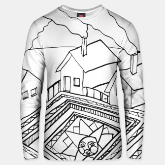 Thumbnail image of The Sun rests in the small Main Square of the Village Unisex sweater, Live Heroes