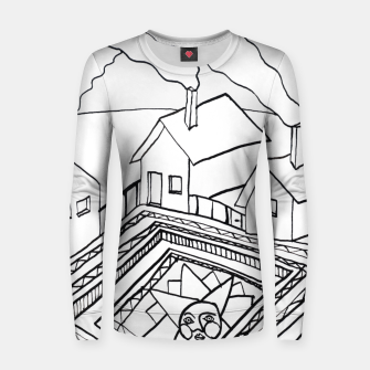 Thumbnail image of The Sun rests in the small Main Square of the Village Women sweater, Live Heroes