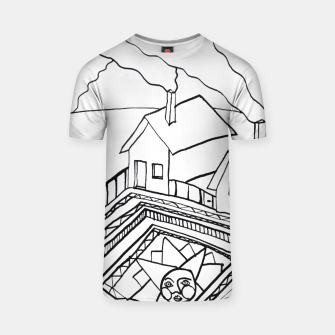Thumbnail image of The Sun rests in the small Main Square of the Village T-shirt, Live Heroes