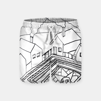 Thumbnail image of The Sun rests in the small Main Square of the Village Swim Shorts, Live Heroes