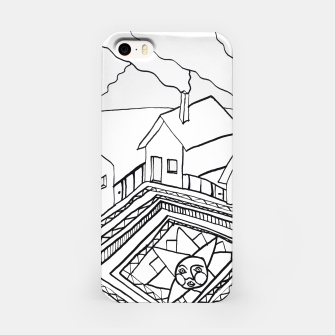 Thumbnail image of The Sun rests in the small Main Square of the Village iPhone Case, Live Heroes