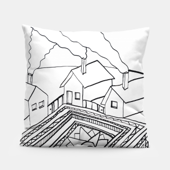 Thumbnail image of The Sun rests in the small Main Square of the Village Pillow, Live Heroes