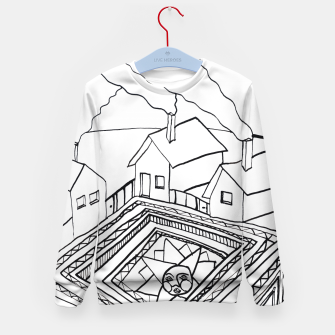 Thumbnail image of The Sun rests in the small Main Square of the Village Kid's sweater, Live Heroes