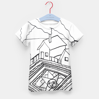 Thumbnail image of The Sun rests in the small Main Square of the Village Kid's t-shirt, Live Heroes