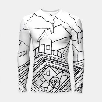 Thumbnail image of The Sun rests in the small Main Square of the Village Longsleeve rashguard , Live Heroes