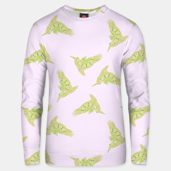 Thumbnail image of Pelican pattern on brown Unisex sweater, Live Heroes