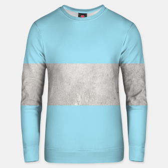 Thumbnail image of Gray textured stripe on blue Unisex sweater, Live Heroes