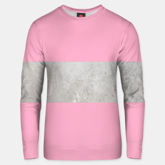 Thumbnail image of Gray textured stripe on pink Unisex sweater, Live Heroes
