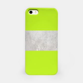 Thumbnail image of Gray textured stripe on green iPhone Case, Live Heroes