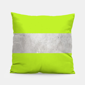 Thumbnail image of Gray textured stripe on green Pillow, Live Heroes