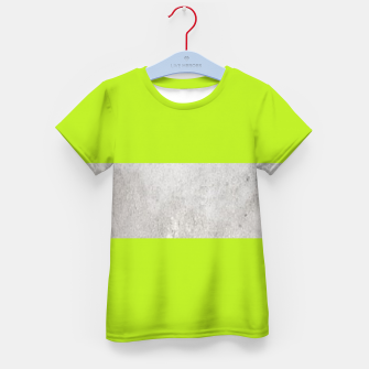 Thumbnail image of Gray textured stripe on green Kid's t-shirt, Live Heroes