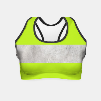 Thumbnail image of Gray textured stripe on green Crop Top, Live Heroes