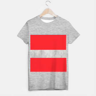 Thumbnail image of Gray textured stripe on red T-shirt regular, Live Heroes