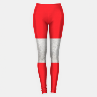 Thumbnail image of Gray textured stripe on red Leggings, Live Heroes