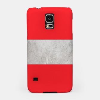 Thumbnail image of Gray textured stripe on red Samsung Case, Live Heroes