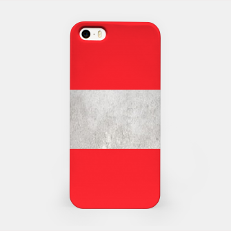 Thumbnail image of Gray textured stripe on red iPhone Case, Live Heroes