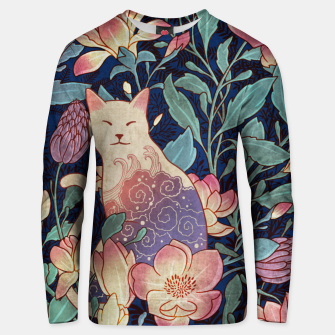 Thumbnail image of Cat and magnolia Unisex sweater, Live Heroes